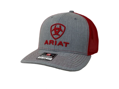 ARIAT GREY/RED HAT