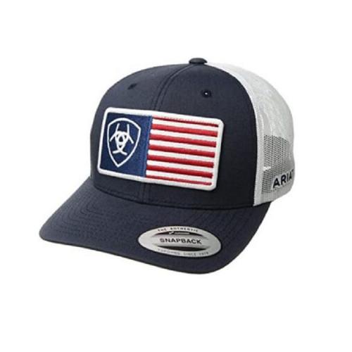 ARIAT NAVY FLAG HAT