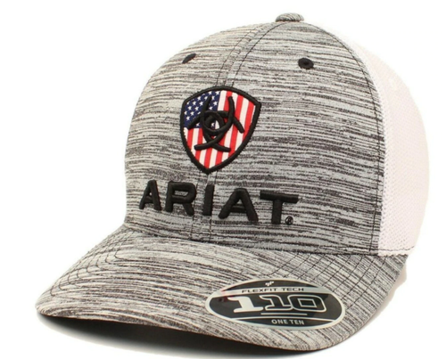 ARIAT GREY FLAG HAT