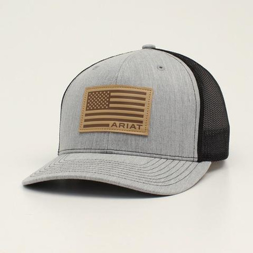 ARIAT GREY/TAN FLAG HAT