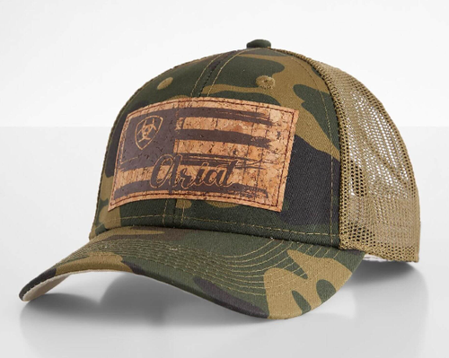 ARIAT CAMO FLAG HAT