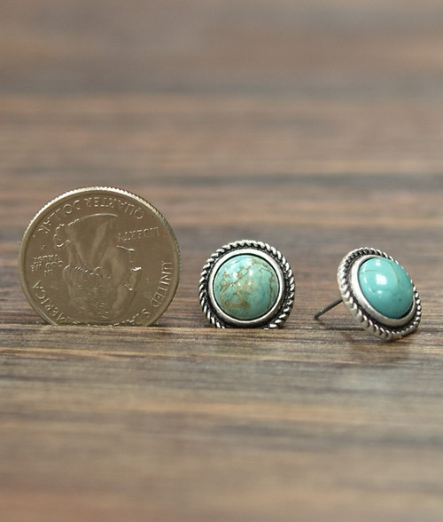 TURQUOISE POST EARRING