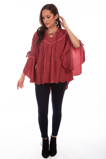 SCULLY MAROON TOP
