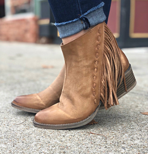 HONEY FRINGE BOOTIE
