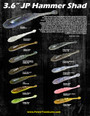 "JP Hammer Shad Drop Shot Kit - Custom 5"" Finicky Tickler/3.6"""
