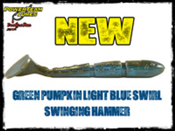 Swinging Hammers back in stock plus we've added Green Pumpkin Light Blue Swirl!