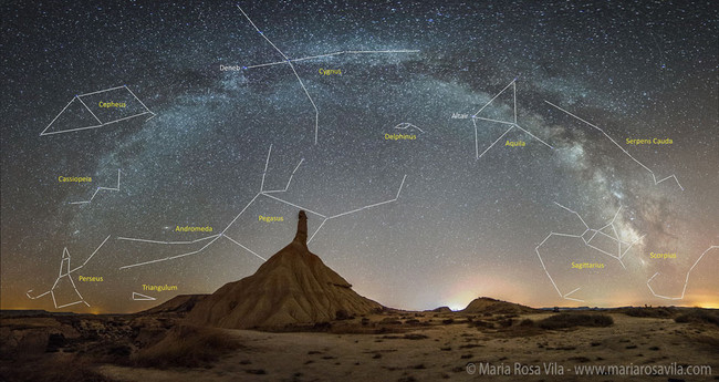 Milky Way Over Spain's Bardenas Reales  Image Credit & Copyright: Maria Rosa Vila