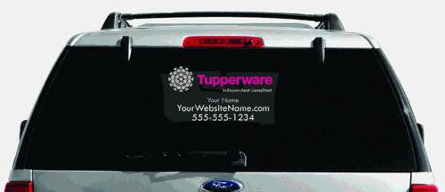 Tupperware Multi-Color Logo Car Decal with Custom Name, Website, etc.