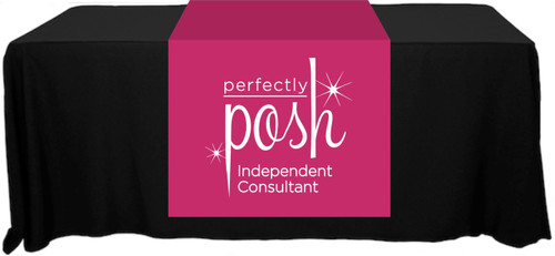 "Perfectly Posh Full Color Table Runner - 30"" x 80"""