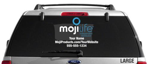 MojiLife Dual Color Custom Vehicle Decal