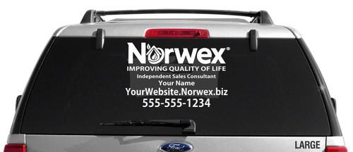 Norwex Custom Vehicle Decal - Single Color
