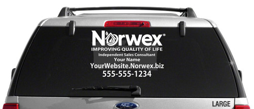 Norwex Custom Vehicle Decal - Single Color