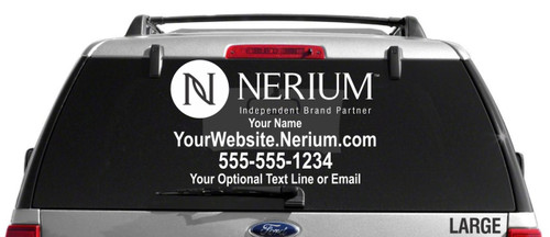 Nerium Custom Vehicle Decal - Single Color