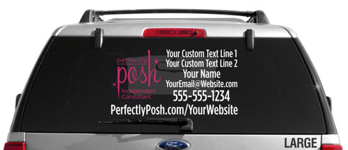 Perfectly Posh Logo Custom Vehicle Decal - Dual Color