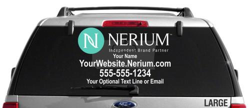 Nerium Custom Vehicle Decal - Dual Color