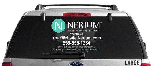 Nerium Custom Vehicle Decal With Custom Tag Line- Dual Color