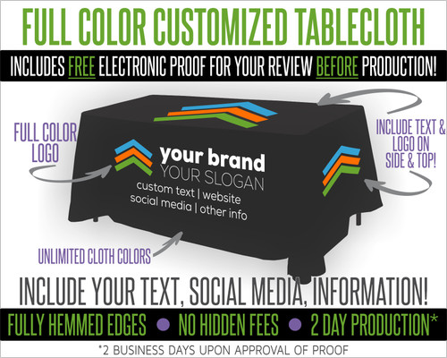 Full Color Customized Premier Tablecloth