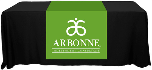 "Arbonne Full Color Table Runner - 30"" x 80"" - Old Logo"