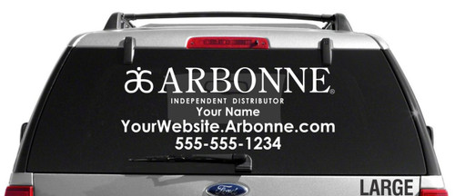 Arbonne Single-Color Horizontal Logo Car Decal