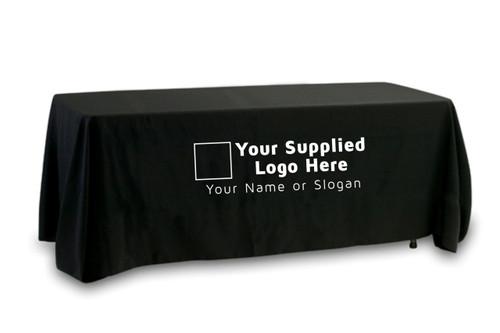 Your Supplied Logo Premium Tablecloth (Single Color Logo) 1