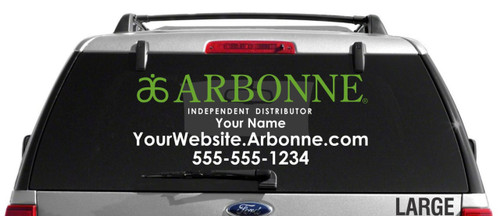 Arbonne Dual-Color Horizontal Logo Car Decal