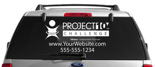 Project 10 ViSalus Logo Body by Vi Window Decal
