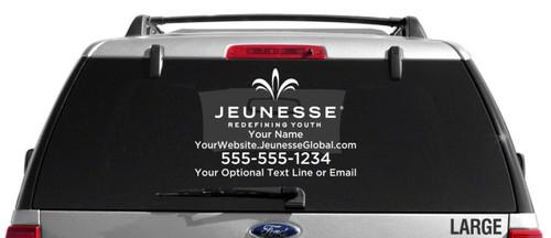 Jeunesse Global Custom Vehicle Decal - Single Color