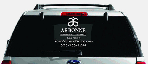 Arbonne Single-Color Logo Car Decal