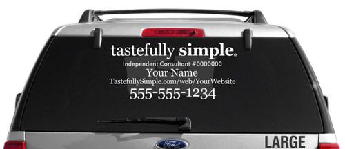 Tastefully Simple Slim Style Vehicle Decal - Single Color