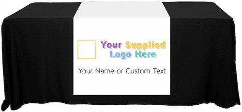 "Full Color Table Runner with Your Logo - 30"" x 80""  - Any Color!"