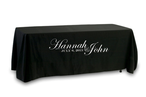 Custom Name Wedding Tablecloth