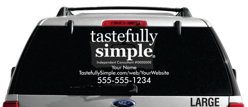 Tastefully Simple Vehicle Decal - Single Color