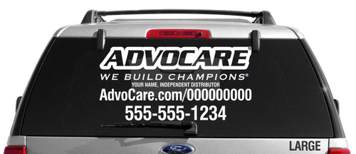 AdvoCare Standard Slim Style Decal