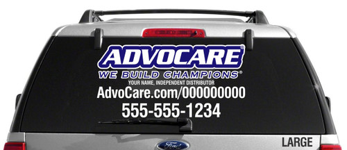AdvoCare Standard Slim Style Decal-Dual Color