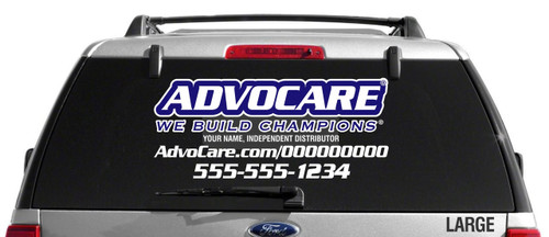 AdvoCare Sport Slim Style Decal-Dual Color