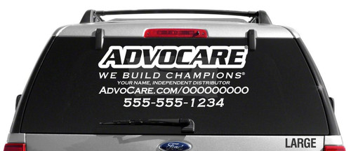 AdvoCare Champ Slim-Style Decal
