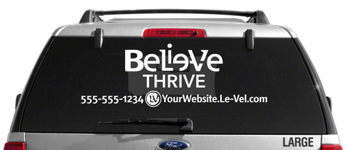 Le-Vel Believe Logo Decal - Single Color
