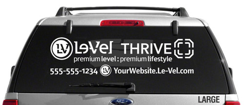Le-Vel Thrive Decal - Single Color