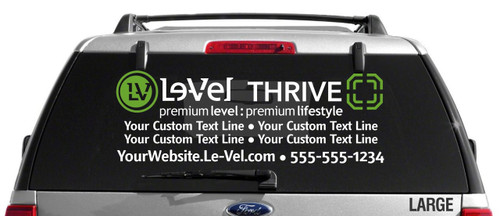 Le-Vel Thrive Decal - Dual Color with 2 Custom Text Lines