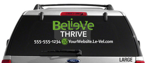 Le-Vel Believe Logo Decal - Dual Color