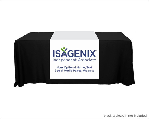 """Isagenix Full Color Personalized Table Runner  - 30"""" x 80"""""""