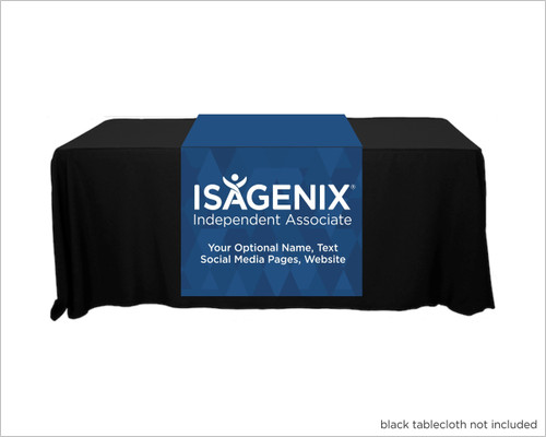 "Isagenix Full Color Personalized Table Runner  - 30"" x 80"" - Diamond Styling"
