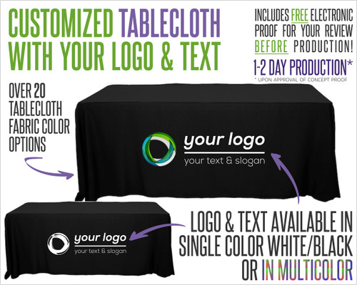 Tablecloth With Logo and Fabric Color Options