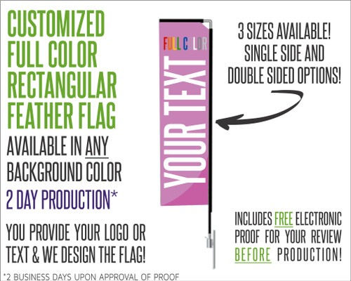 Customized Rectangular Feather Flag