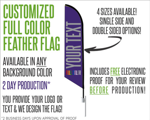 Customized Angled Feather Flag