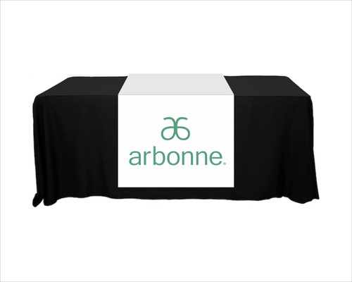 "Arbonne Full Color Table Runner - 30"" x 80"" - New Logo"