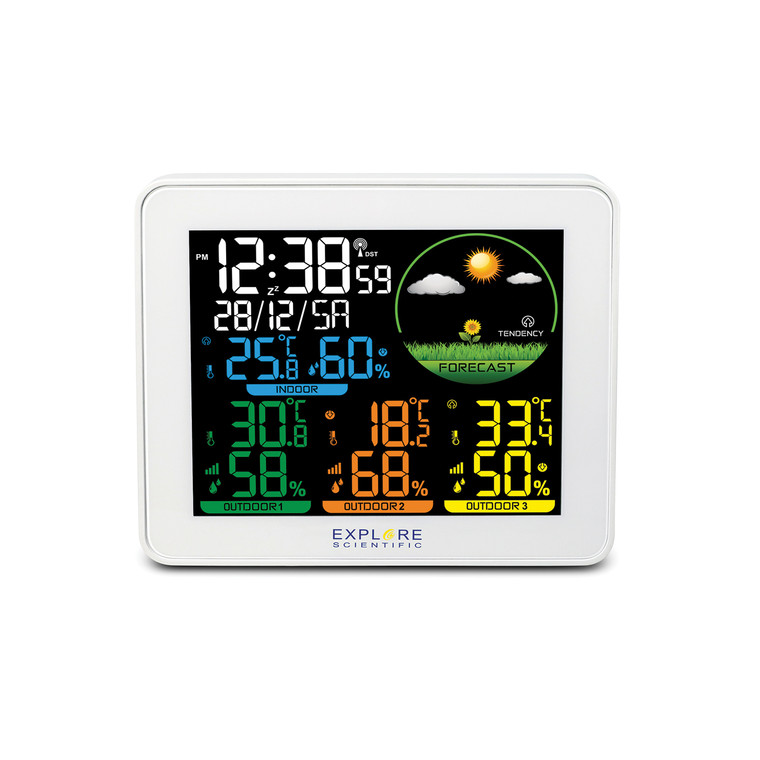 Colour Weather Stations with Multi Sensors