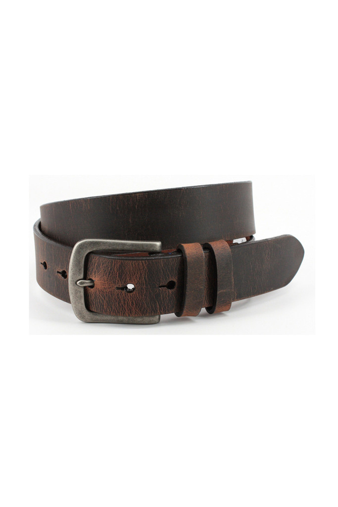Torino Leather Co. Distressed Waxed Leather Belt