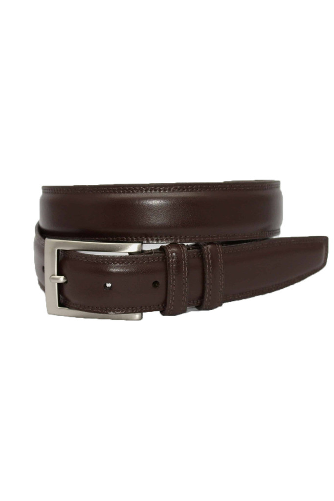 Torino Leather Co. Aniline Brown Leather Belt