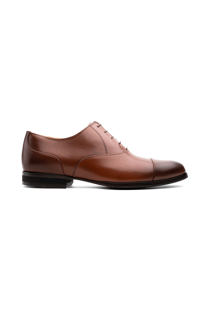 Wolf & Shepherd Closer Captoe Maple Dress Shoe